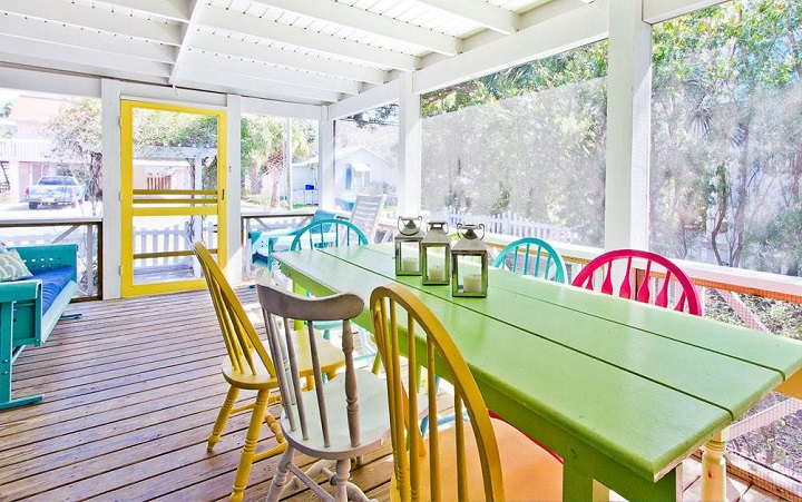 Blue Crab Cottage back porch