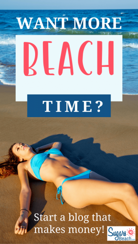 If you want more beach time, starting a money-making blog is the way to go. Get details at http://SugarsBeach.com