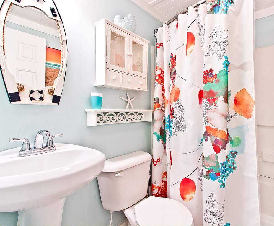 Mellow Yellow Cottage Guest Bathroom
