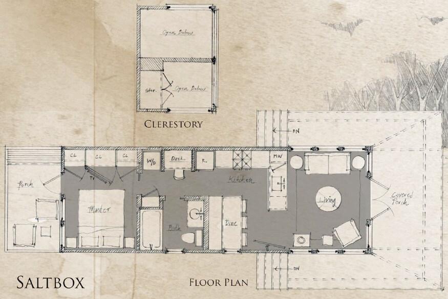 Beachy Saltbox Floor Plan