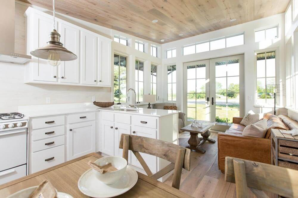 Beachy Saltbox Kitchen Dining Living Room