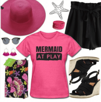 pink mermaid tshirt