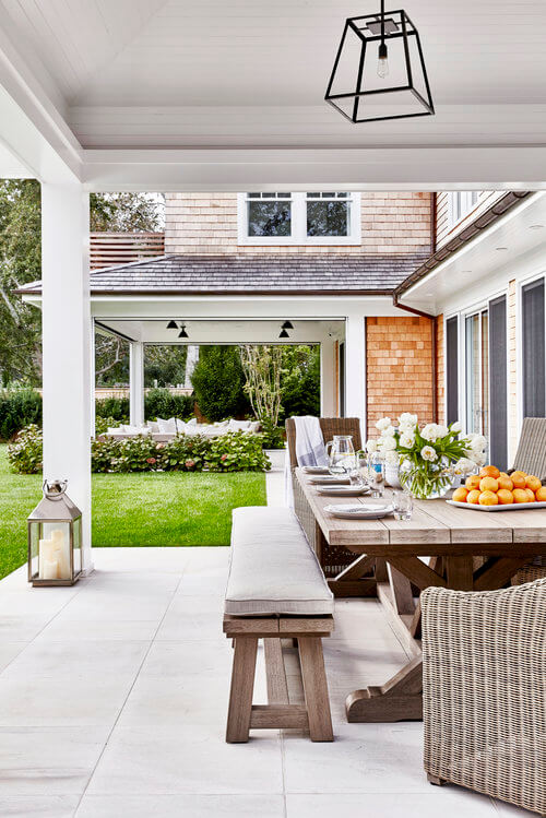 Amagansett Outside Dining Area