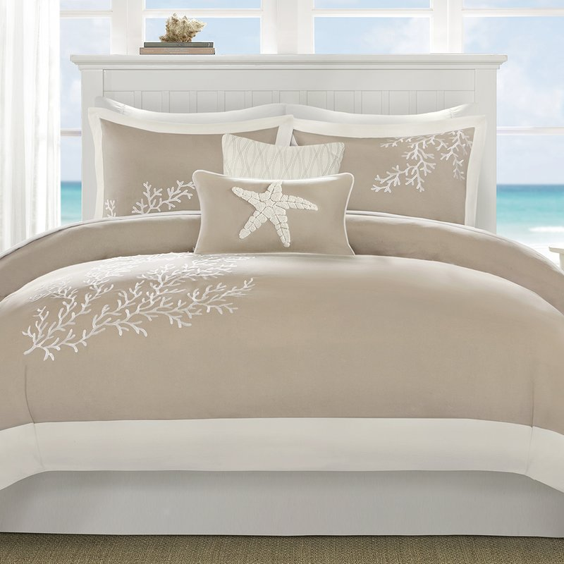 Coastal theme duvet cover