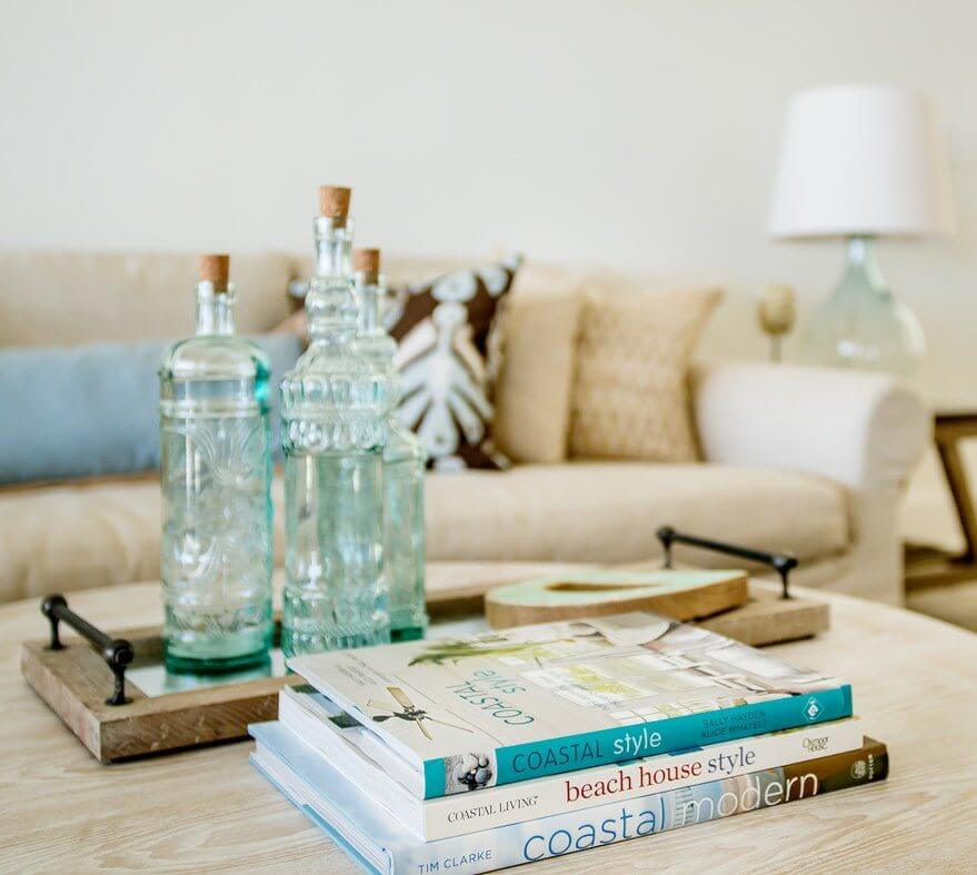 Jesse's Gulf Coast Living Room Table Decor