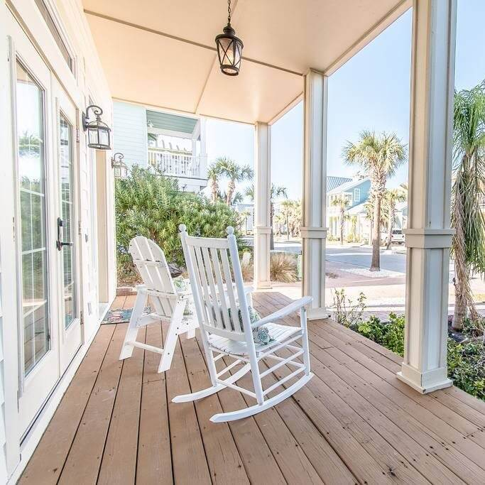 Cinnamon Shore Beach House Rental - Front Porch