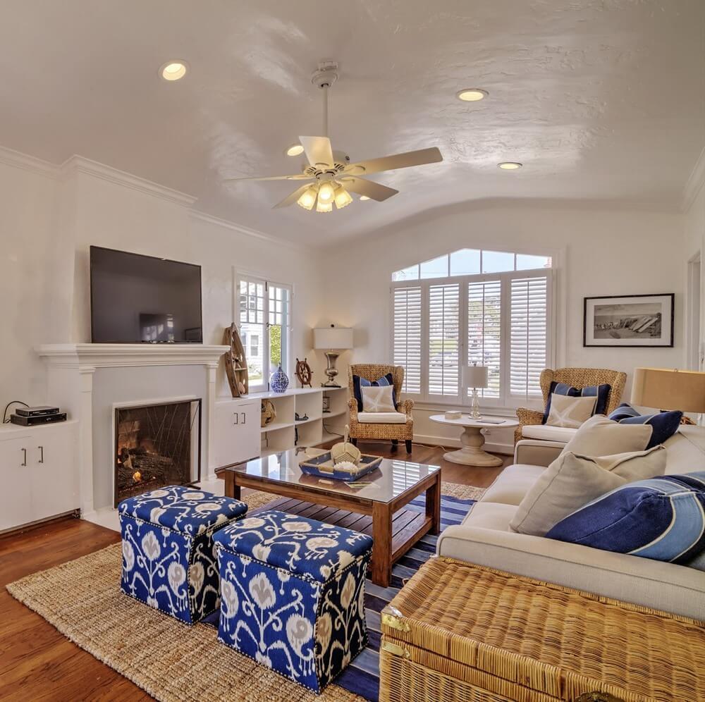 Charming Balboa Island Living Room