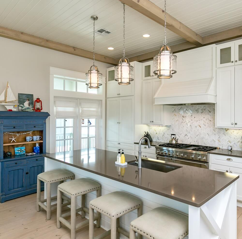 Port Aransas Coastal House Kitchen