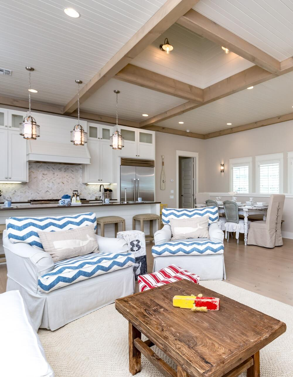 Port Aransas Coastal House Living Room