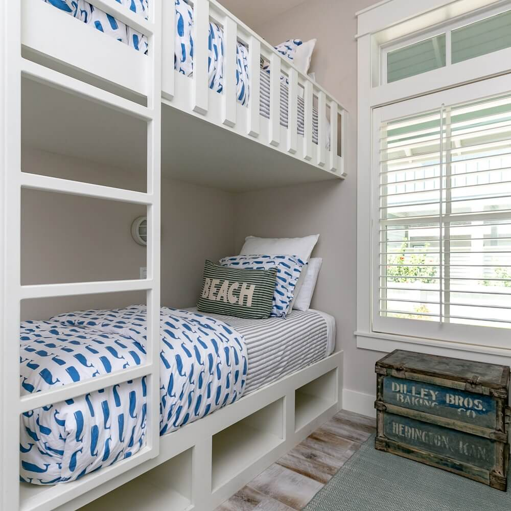 Port Aransas Coastal House Twin Bunk Beds