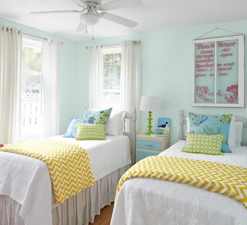 The Coral Cottage Twin Beds