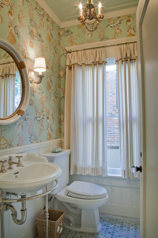 Dreamy Historical Beach House Guest Bathroom