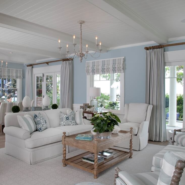 Dreamy Historical Beach House Living Room
