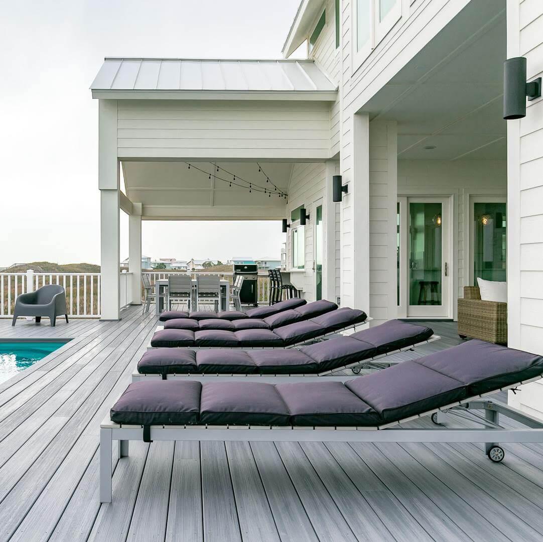 Modern Beach House Rental Port Aransas TX Deck