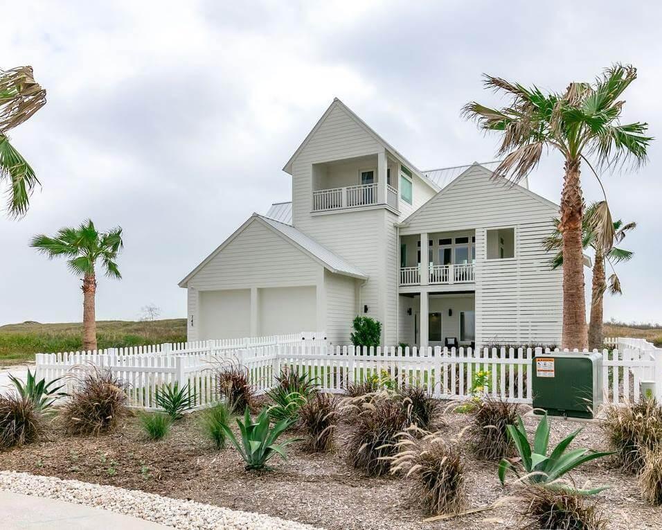 Modern Beach House Rental Port Aransas TX Exterior