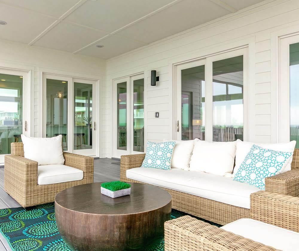Modern Beach House Rental Port Aransas TX Outdoor Living