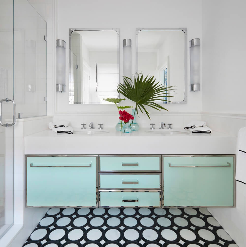 Palm Beach House by the Sea Bathroom double sink