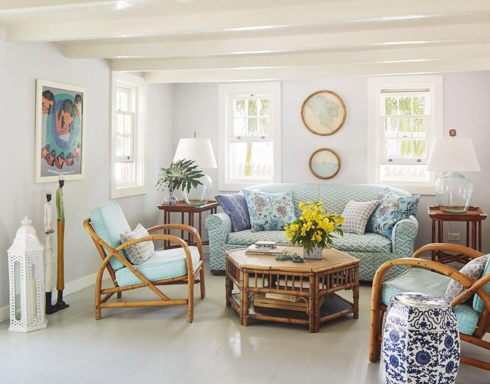 Chatterbox Harbour Island Beach Cottage Living Room