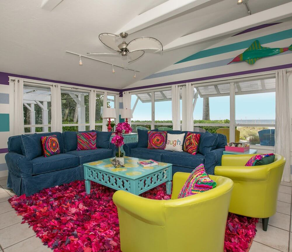 'Limefish' Beach House Rental Tour Lounge Area