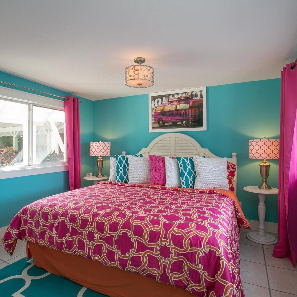 'Limefish' Beach House Rental Tour Master Bedroom