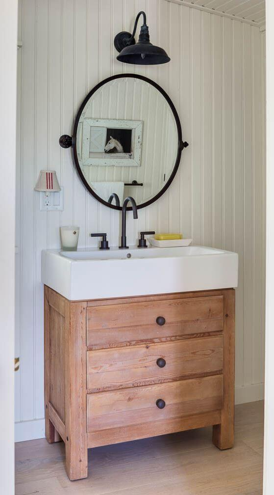Martha's Vineyard Private Beach Cottage Guest House Bathroom Vanity