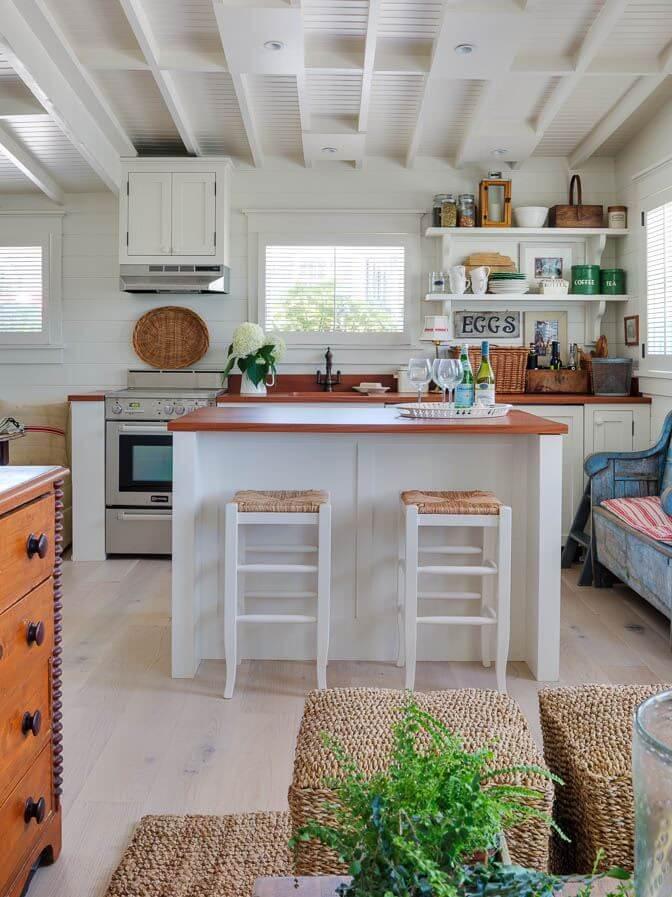 Martha's Vineyard Private Beach Cottage Guest House Kitchen