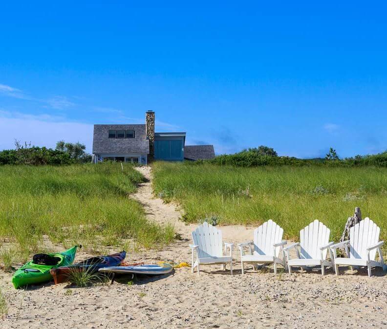 Martha's Vineyard Private Beach Cottage Guest House Ocean Side