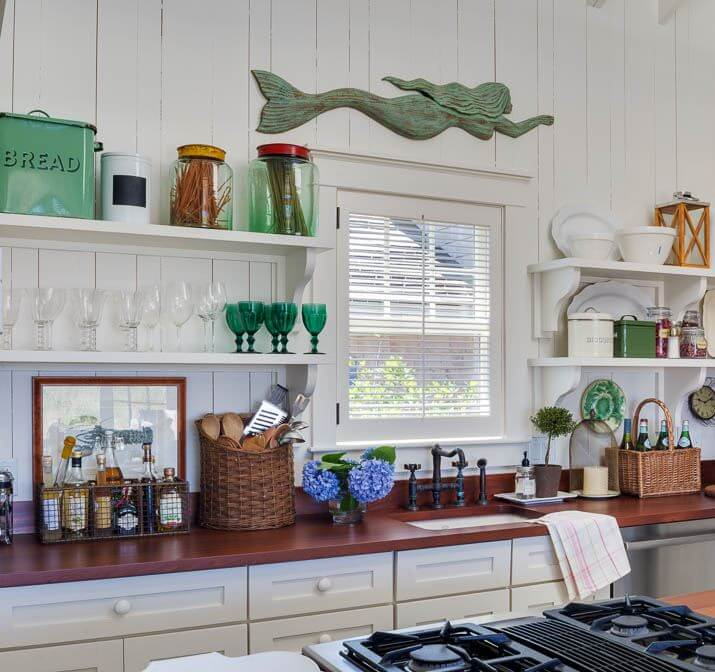 Martha's Vineyard Private Beach Cottage Main House Kitchen