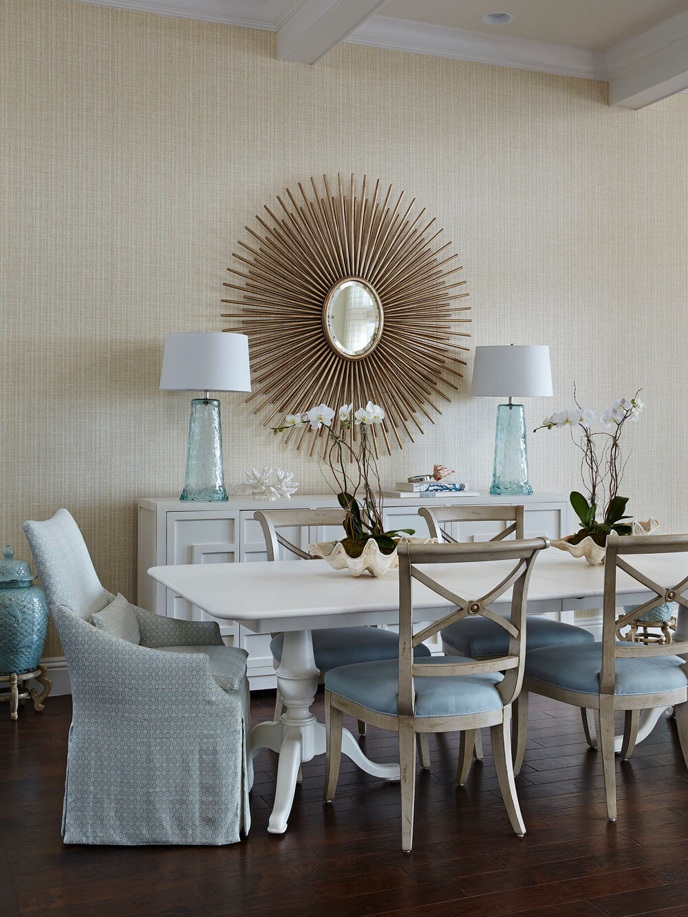 Naturally Serene Tequesta Beach House Dining Area