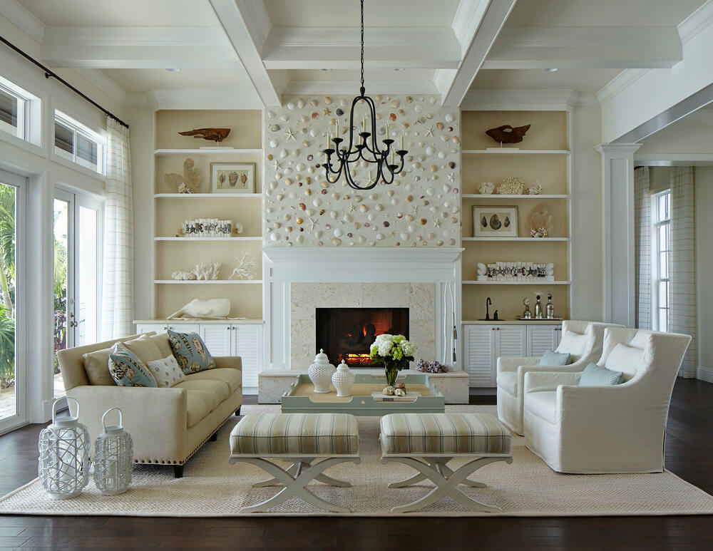 Naturally Serene Tequesta Beach House Living Room