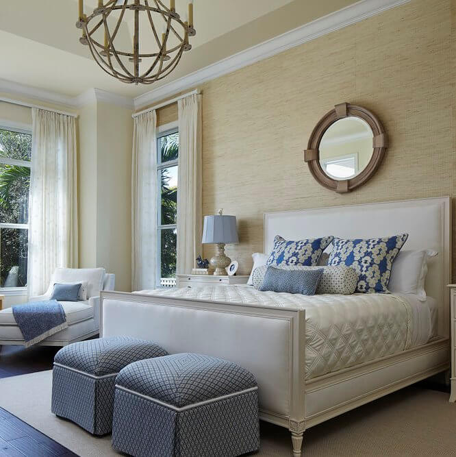 Naturally Serene Tequesta Beach House Master Bedroom