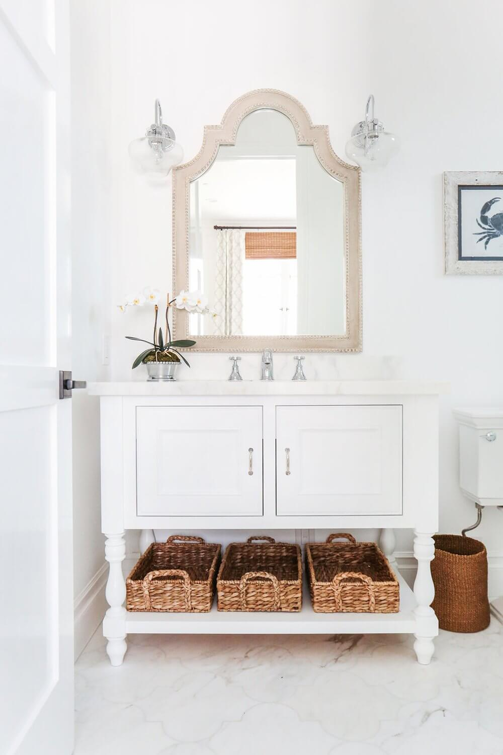 Newport Beach California Coastal Home Guest Bathroom