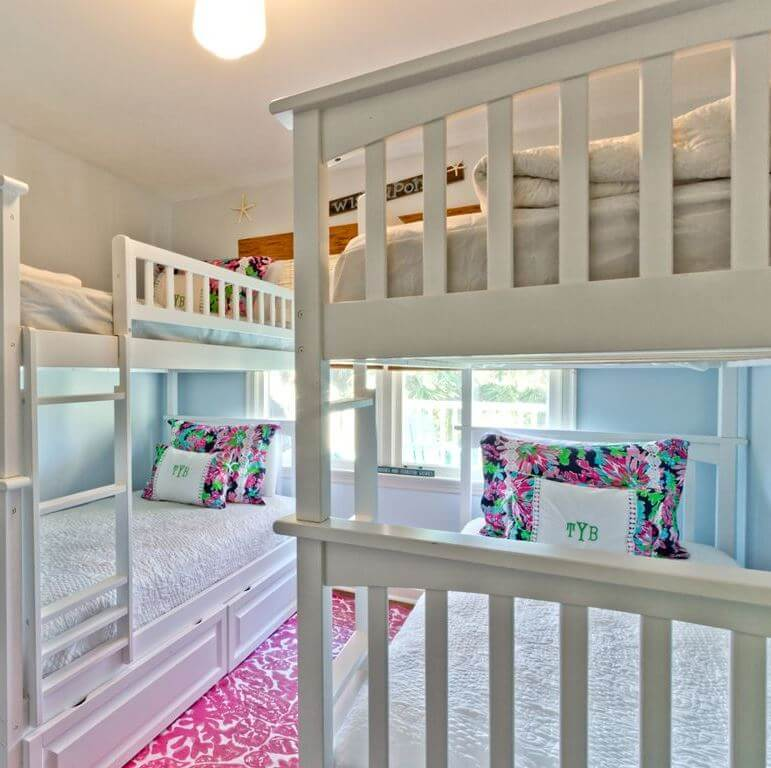 The Salty Mermaid Beach Cottage Bunk Beds