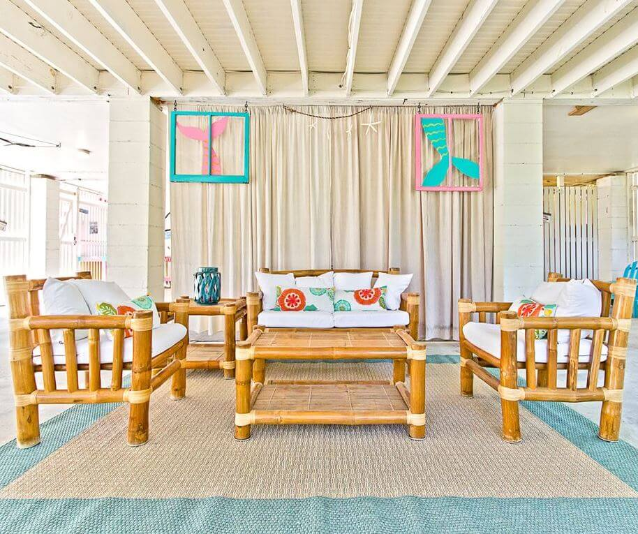The Salty Mermaid Beach Cottage Covered Patio