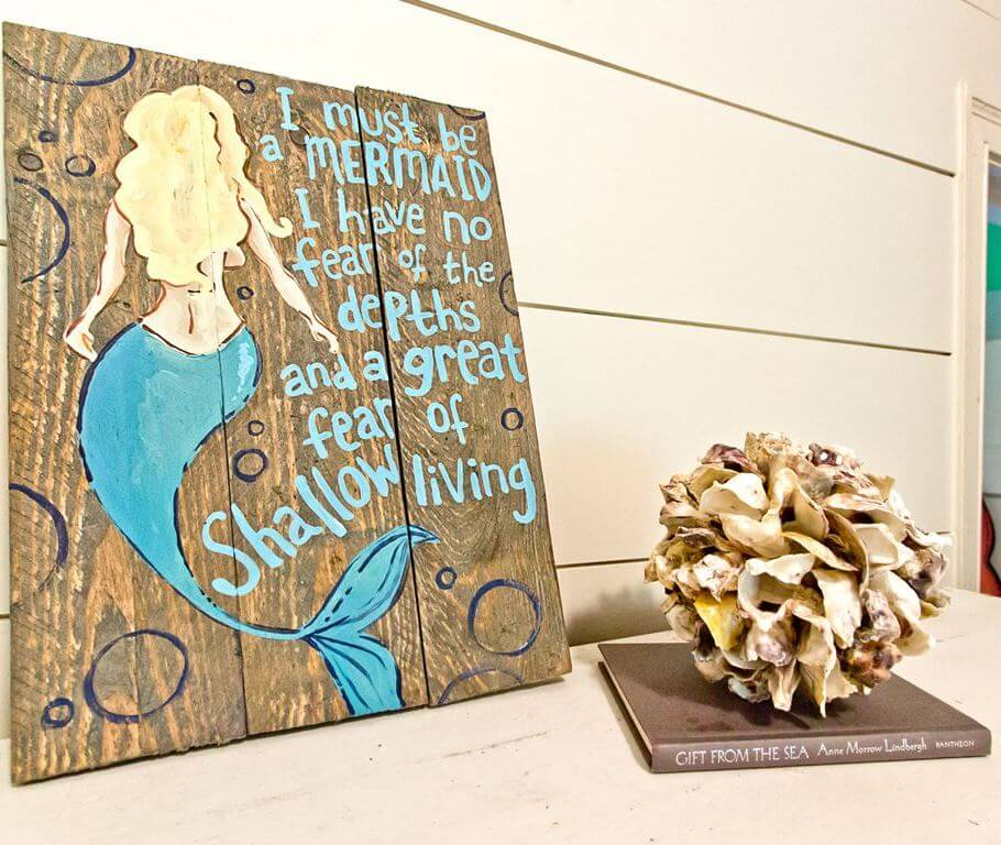 The Salty Mermaid Beach Cottage Mermaid Decor