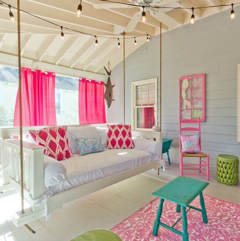 The Salty Mermaid Beach Cottage Screened Porch