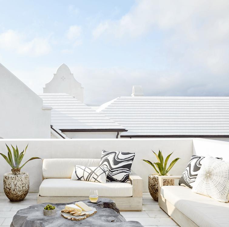 Alys Beach Florida Beach House Rooftop Deck