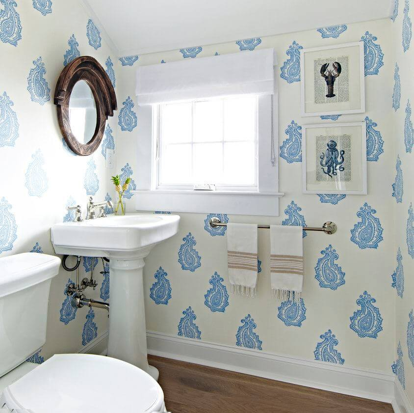 Bay Head Beach Cottage Powder Room