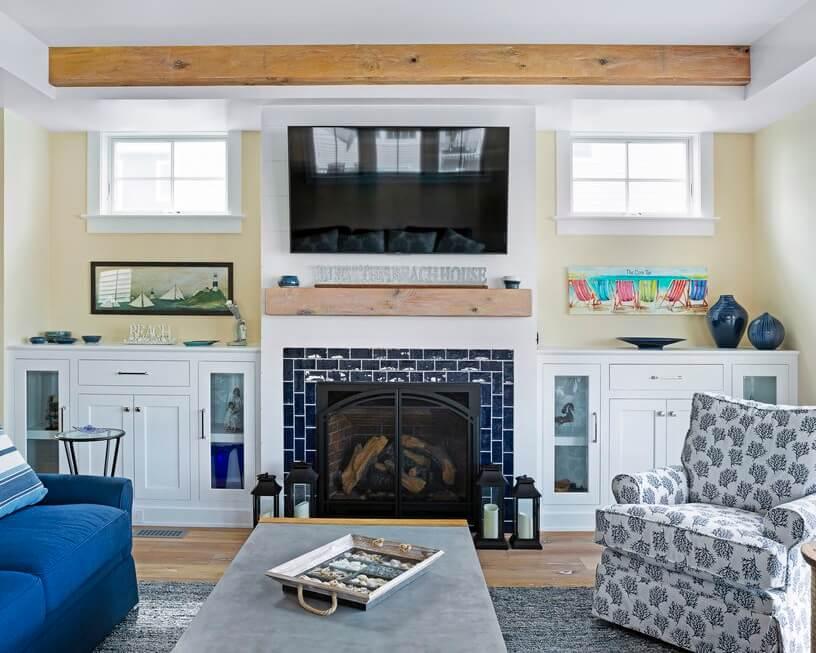 Manasquan New Jersey Beach House Living Room