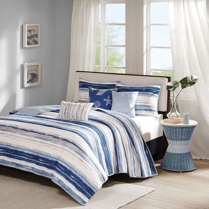 Cardiff 6 Piece Reversible Coverlet Set