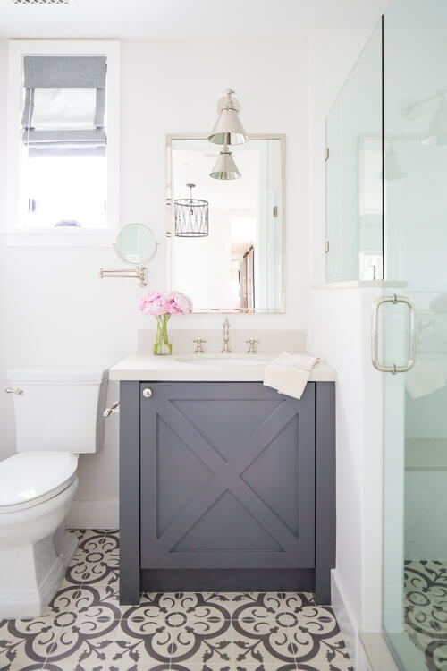 Corona Del Mar Guest Bathroom