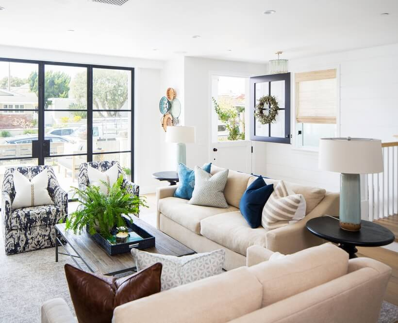 Corona Del Mar Living Area