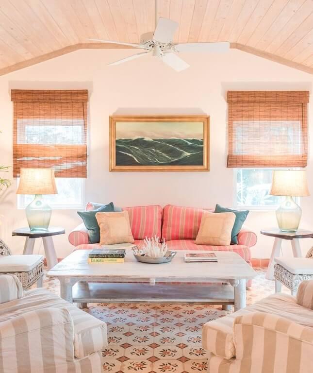 Dunmore Town Bahamas Beach House Living Room