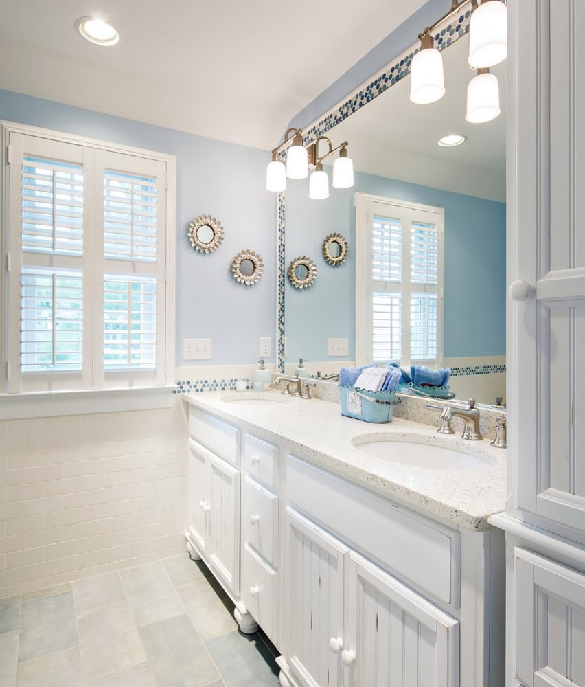 Harvey Cedars Beach House Bathroom Vanity