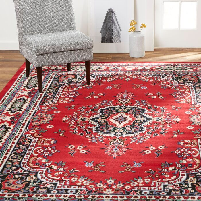 Lilly Oriental Red Area Rug