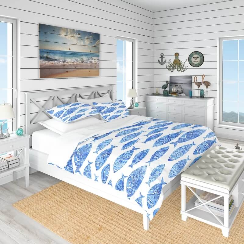 Nautical and Coastal Duvet Cover Set