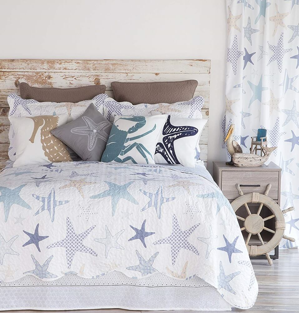 North End Decor Starfish Reef Coastal Quilt
