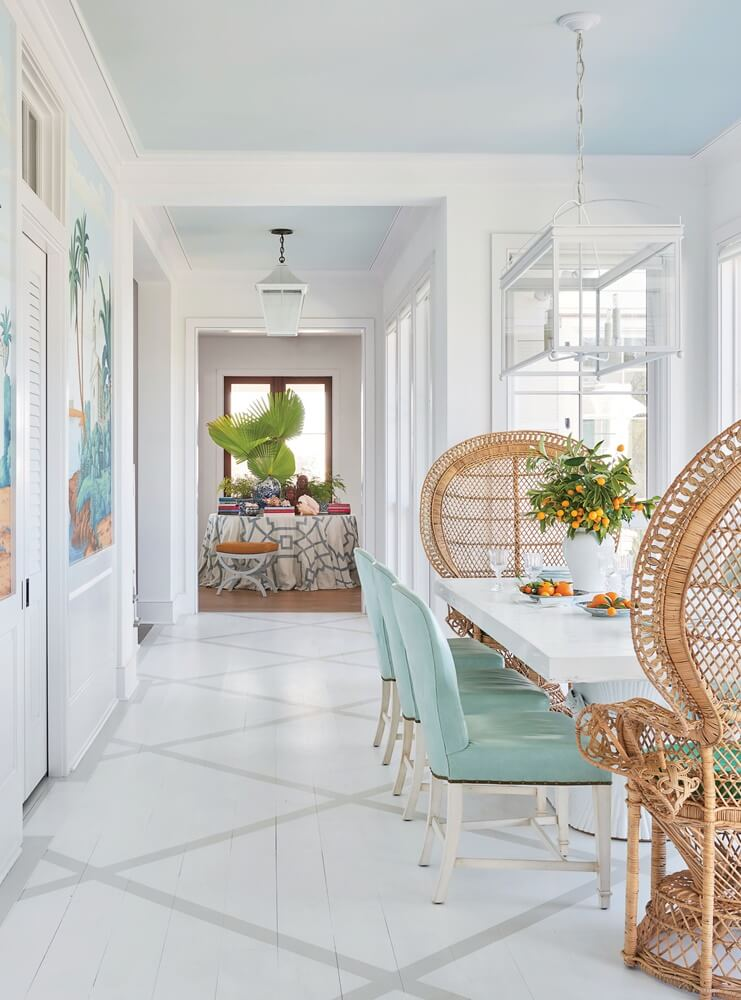 South Carolina Beach House Dining Area