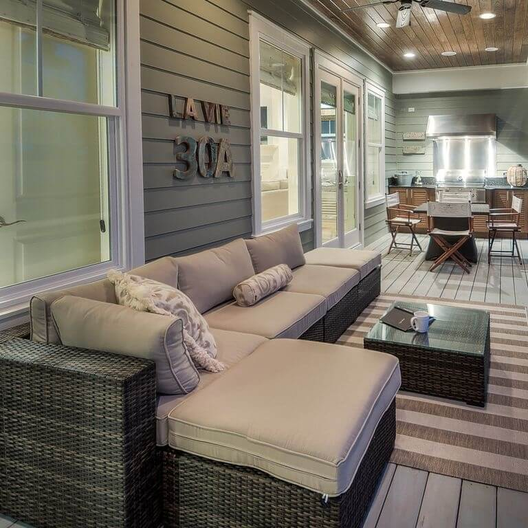 WaterSound Florida Beach House Covered Porch
