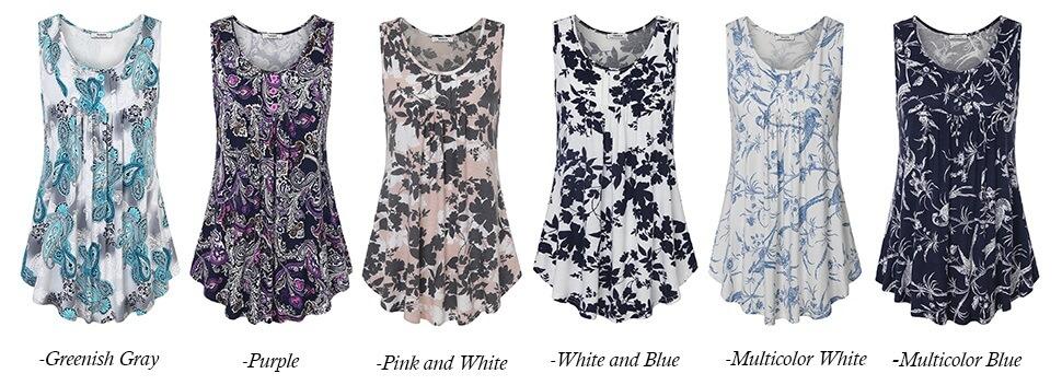 Printed summer sleeveless tops(1)